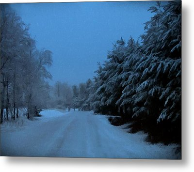Metal Print featuring the photograph Silent Winter Night  by David Dehner