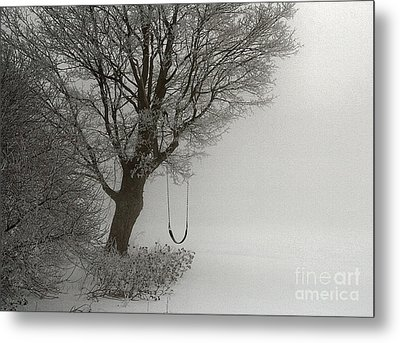 Metal Print featuring the photograph Silently Swinging by Jan Piller