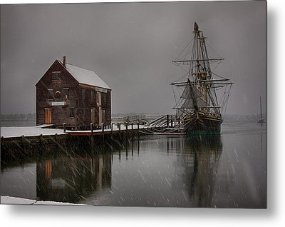 Silently The Snow Falls. Metal Print by Jeff Folger