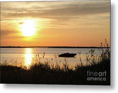 Metal Print featuring the photograph Silhouette By Sunset by Kennerth and Birgitta Kullman