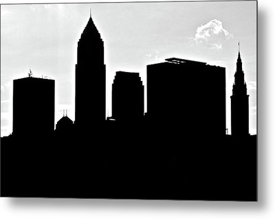 Silhouette Of The Big City Metal Print by Frozen in Time Fine Art Photography