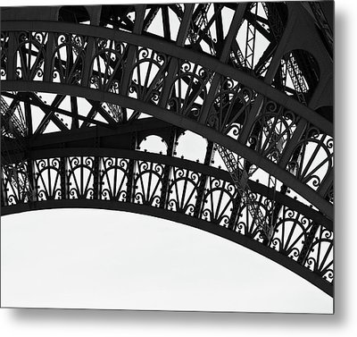 Silhouette - Paris, France Metal Print