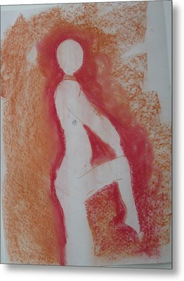 Silhouetted Figure Metal Print