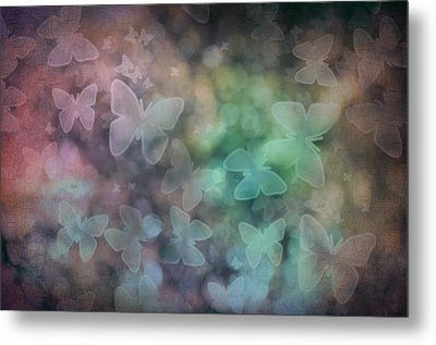 Silhouettes Of Butterflies Metal Print by Marianna Mills