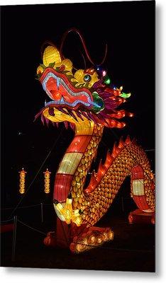 Silk Dragon Metal Print