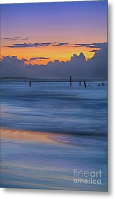 Silky Sunrise Reflections Outer Banks Metal Print by Dan Carmichael