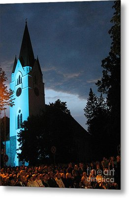 Metal Print featuring the photograph Silute Lutheran Evangelic Church Lithuania by Ausra Huntington nee Paulauskaite