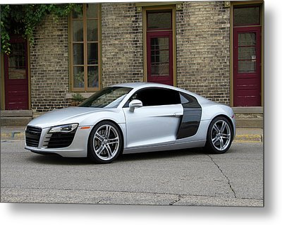 Metal Print featuring the photograph Silver Audi R8 by Joel Witmeyer