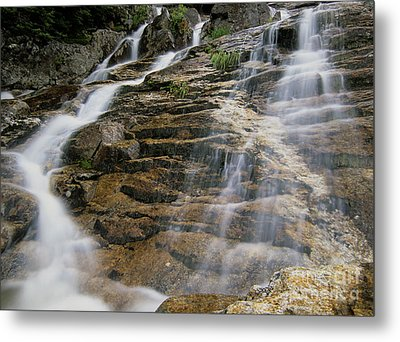 Silver Cascades - Crawford Notch New Hampshire Metal Print by Erin Paul Donovan