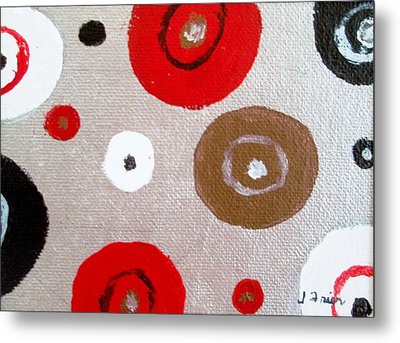 Silver Circle Abstract Metal Print by Jamie Frier