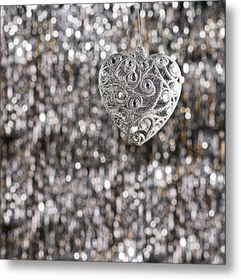 Metal Print featuring the photograph Silver Heart by Ulrich Schade