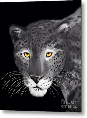 Silver Jaguar  Metal Print by Nick Gustafson