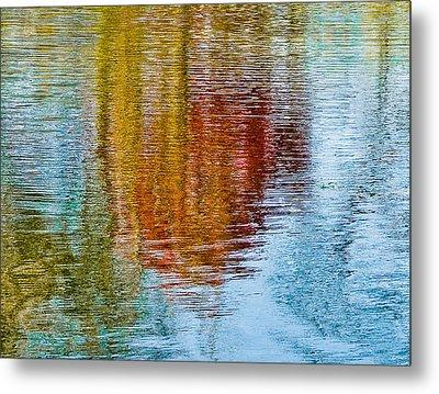 Silver Lake Autumn Reflections Metal Print by Michael Bessler