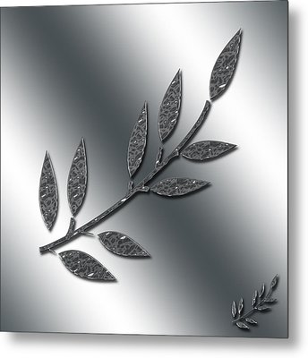 Silver Leaves Abstract Metal Print by Aimee L Maher Photography and Art Visit ALMGallerydotcom