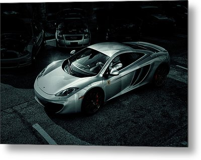 Metal Print featuring the photograph Silver Mclaren by Joel Witmeyer