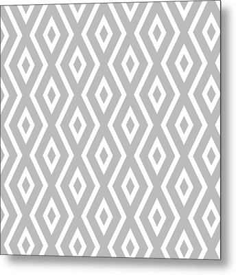 Metal Print featuring the mixed media Silver Pattern by Christina Rollo