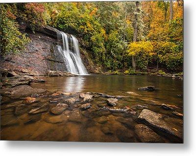 Silver Run Falls Nantahala National Forest North Carolina Metal Print by Rick Dunnuck