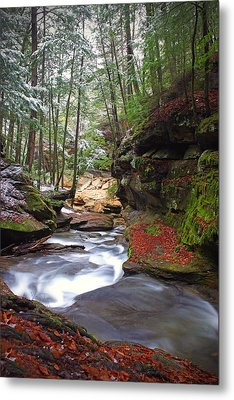 Metal Print featuring the photograph Silver Singing River by Jaki Miller