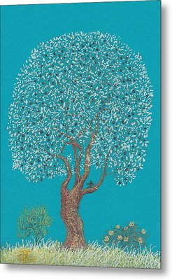 Silver Tree Metal Print by Charles Cater