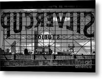 Silvercup Studios Sign Backside Metal Print