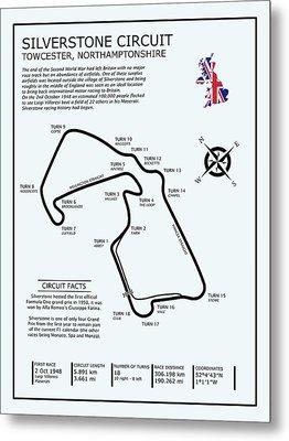 Silverstone Circuit Metal Print by Mark Rogan