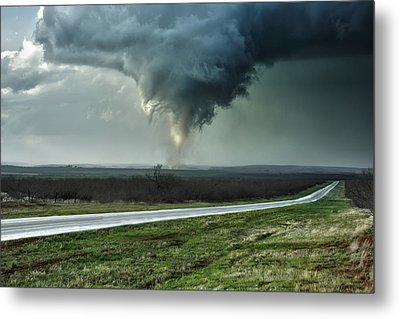 Metal Print featuring the photograph Silverton Texas Tornado 2 by James Menzies