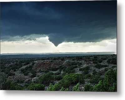 Silverton Texas Tornado Forms Metal Print by James Menzies