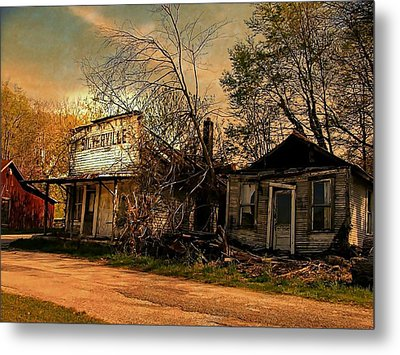 Silverville Ghost Town In Browns Metal Print