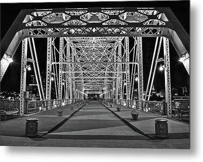 Silvery Bridge Metal Print