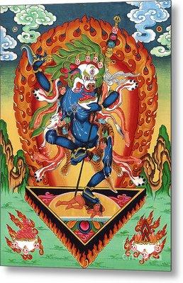 Simhamukha - Lion Face Dakini Metal Print by Sergey Noskov