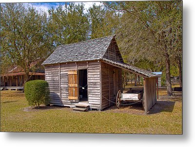 Simmons Cabin Built In 1873 In Orange County Florida Metal Print by Allan  Hughes