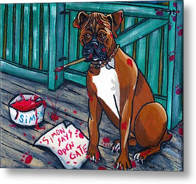 Simon Says Metal Print by Laura Brightwood
