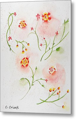 Simple Flowers #2 Metal Print by Carol Crisafi