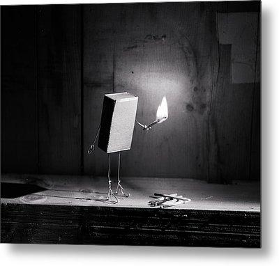 Simple Things - Light In The Dark Metal Print by Nailia Schwarz
