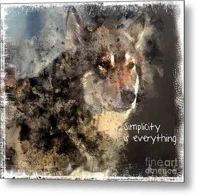 Simplicity Is Everything -light Metal Print by Elaine Ossipov