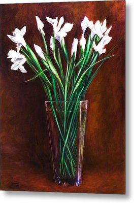 Simply Iris Metal Print by Shannon Grissom