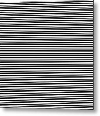 Simply Stripes- Art By Linda Woods Metal Print by Linda Woods