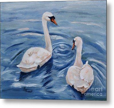 Simply Swans Metal Print