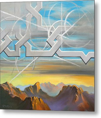 Metal Print featuring the painting Sinai by Dave Platford