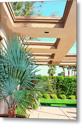 Sinatra Patio Palm Springs Metal Print by William Dey