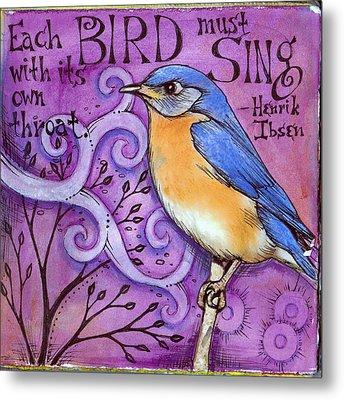 Sing Metal Print by Vickie Hallmark