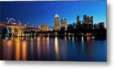 Singapore - Blue Hour Metal Print by Ng Hock How