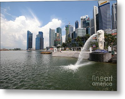 Singapore Metal Print by Charuhas Images