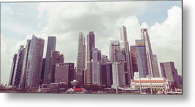 Singapore Cityscape The Second Metal Print by Joseph Westrupp