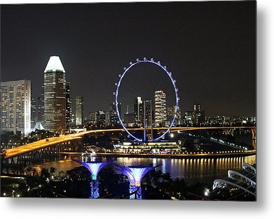 Singapore Eye Metal Print by Diane Height