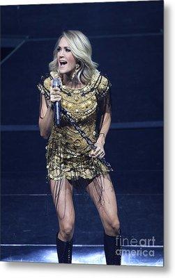 Singer Carrie Underwood Metal Print by Concert Photos