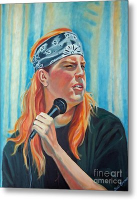 Singer For The Band Metal Print by Gail Zavala