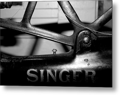 Singer Metal Print by Gina  Zhidov
