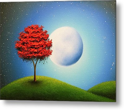 Singing The Night Metal Print by Rachel Bingaman