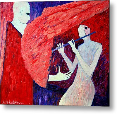 Singing To My Angel 1 Metal Print by Ana Maria Edulescu
